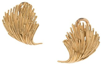 Katheleys Vintage 1960's 18kt yellow gold French leaf earrings