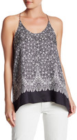 Helmut Lang Printed Silk Open Back Tank
