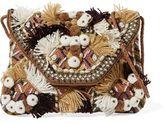 Antik Batik Bead-Embellished Embroidered Cotton-Canvas Shoulder Bag