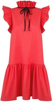 Monica Nera Angela Coral Cotton Dress