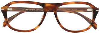 David Beckham Tortoise Shell Round Sunglasses