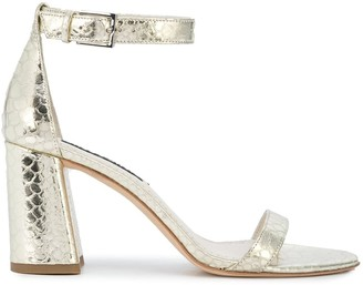 Alice + Olivia Metallic Low Heel Sandals