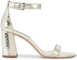 Alice + Olivia Metallic Low Heel Sandals