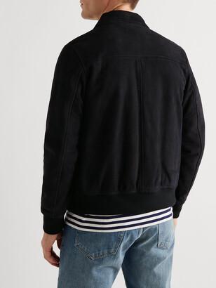 Valstar Leather-Trimmed Suede Varsity Jacket
