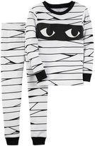 Carter's Toddler Boy Halloween Mummy Top & Bottoms Pajama Set