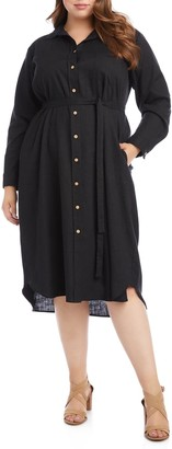 Karen Kane Long Sleeve Shirtdress