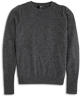 Aqua Girls' Cashmere Puff Sleeve Sweater, Big Kid - 100% Exclusive