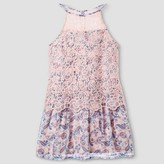 STELLA & SIENNA Girls' Stella & Sienna Lace Popover A Line Dress