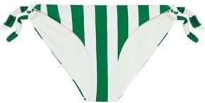 Solid & Striped The Jane Striped Low-rise Bikini Briefs