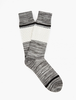N/a Grey Striped Cotton Socks