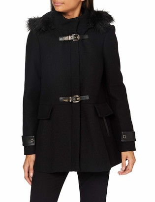Morgan Women's Manteau Caban Boucles Metal Capuche Gcalis Wool Blend Coat