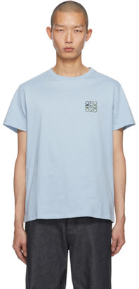 Loewe Blue Embroidered Anagram T-Shirt
