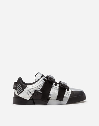 Dolce & Gabbana Laminated Sheepskin Portofino Sneakers