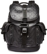 Givenchy Trident Star-Embossed Leather Backpack, Black