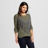 Love @ First Sight Women's Faux Suede Fringe Pullover Sweater - Love @ First Sight (Juniors')
