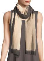 Eileen Fisher Shibori Silk Blocks Artisanal Scarf