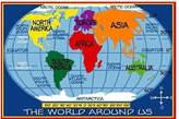 Fun Rugs Supreme Kids World Map Classroom Blue Area Rug Rug