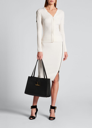 Tom Ford Ribbed Wool Cardigan w/ Zippers