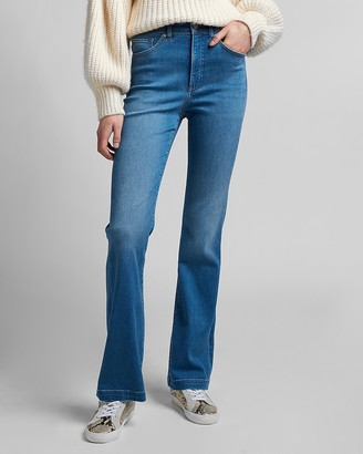 Express High Waisted Faded Bootcut Jeans