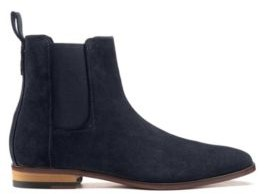 HUGO Suede Chelsea boots with a flex-foam insole