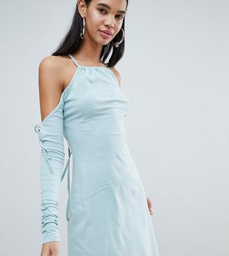 Weekday Limited Edition Criss Cross Back Asymmetric Dress-Cream