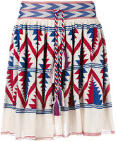 Laneus knitted Aztec design skirt