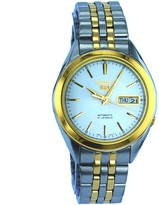 Seiko Men's SNKL24 Two Tone Stainless Steel Analog with Silver Dial Watch