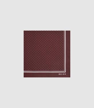 Reiss Jupiter - Silk Pocket Square in Bordeaux