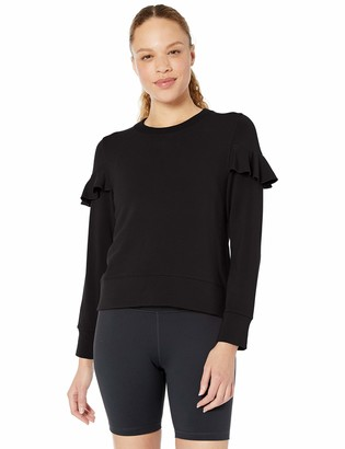 Core Products Core 10 Women's Standard Yoga CoreCloud Fleece Ruffle Sleeve Crew Sweatshirt