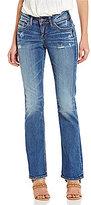 Silver Jeans Co. Suki Slim Bootcut Distressed Stretch Denim Jeans