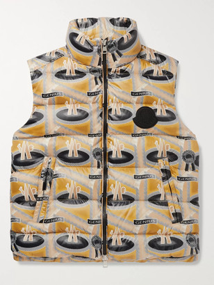 MONCLER GENIUS + Fergus Purcell 2 Moncler 1952 Parker Printed Quilted Nylon Down Gilet