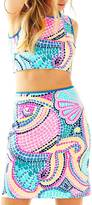 Lilly Pulitzer Kennedy Crop-Top Skirt-Set