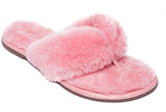 Bernardo Cozy Shearling Thong Sandals