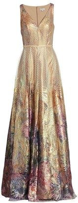 Rene Ruiz Collection Sequin Embroidered Gown