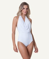 Vix Paula Hermanny Solid White Degager One Piece