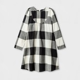 Happy by Pink Chicken® Girls' Buffalo Check Woven A Line Dress - Black