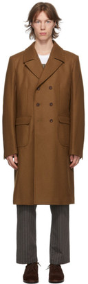 Junya Watanabe Brown Wool Melton Coat