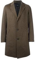 Theory 'Delancey' coat - men - Polyester/Cashmere/Virgin Wool/Bemberg - M