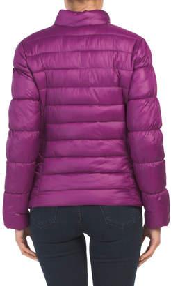 Moto Packable Puffer Coat