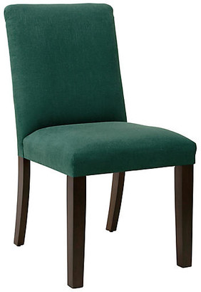 One Kings Lane Lisa Tufted Side Chair - Forest Green