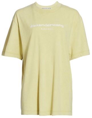Alexander Wang Acid Wash Embroidered T-Shirt