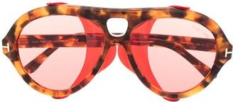 Tom Ford Neughman tortoiseshell-effect sunglasses