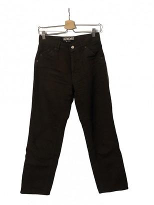 Jacquemus Le Souk Brown Cotton Jeans for Women