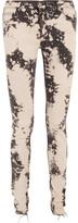 Gucci Appliquéd Distressed Mid-rise Skinny Jeans