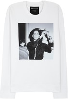Raf Simons White Printed Cotton Sweatshirt