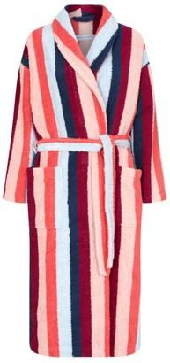 Desmond & Dempsey Medina Stripe Towelling Robe