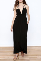 Love Stitch Lovestitch Black Brianna Maxi Dress