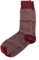 Neiman Marcus Herringbone & Heather Crew Socks
