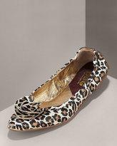 D&G Dolce & Gabbana Leopard-Print Ballet Flat