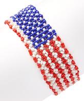 Carole American Flag Stretch Bracelet